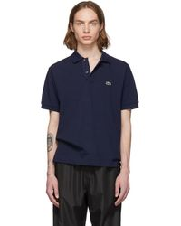Lacoste - Navy Pique Classic Polo - Lyst