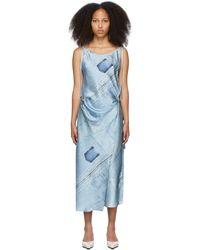 Acne Studios ブルー プリント ドレス