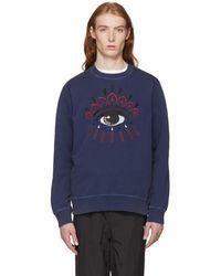 KENZO - Navy Bleached Eye Sweatshirt - Lyst