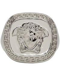 Versace - Silver Medusa Ring - Lyst