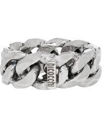Emanuele Bicocchi Silver Rigid Chain Act2 Ring - Metallic