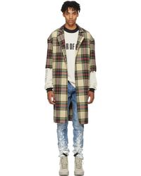 Fear Of God - Multicolor Wool Plaid Overcoat - Lyst