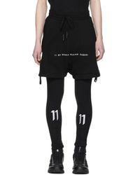 Boris Bidjan Saberi 11 - Black Logo Lounge Shorts - Lyst
