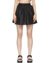 Sir. The Label Silk Vivienne Miniskirt - Black