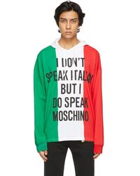 Moschino - マルチカラー Italian Slogan フーディ - Lyst