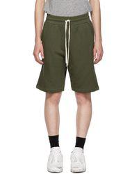 John Elliott - Green Sweat Shorts - Lyst