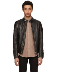 Belstaff - Black Leather Northcott Jacket - Lyst