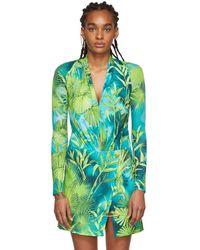 Versace Green Jungle Bodysuit