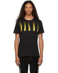 Marni ブラックdistorted ロゴ T シャツ