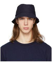 Blue Blue Japan Indigo Chino Bucket Hat - Blue