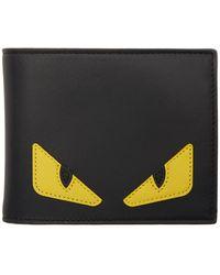 Fendi Black And Yellow Bag Bugs Wallet - Multicolour