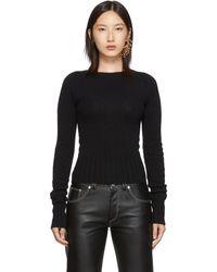 Lemaire ブラック フィット セーター