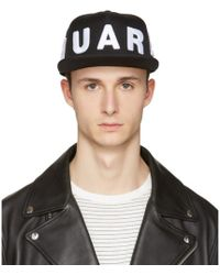 DSquared² - Black Embroidered Logo Cap - Lyst