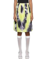 Prada Green And Purple Tie-dye Skirt