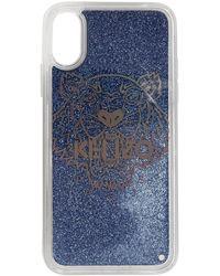 KENZO - ブルー グリッター タイガー ヘッド Iphone X/xs ケース - Lyst