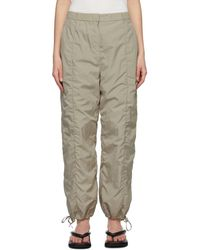 Amomento Shirred Lounge Trousers - Natural