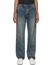 Reese Cooper Blue Washed Denim Jeans