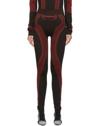 MISBHV Ssense Exclusive Black And Red Active Leggings