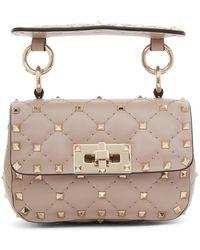 Valentino Garavani Pink Micro Rockstud Spike Bag