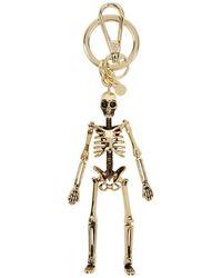 Alexander McQueen - Gold Skeleton Keychain - Lyst