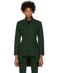 Alexander McQueen - Green Military Jacket - Lyst