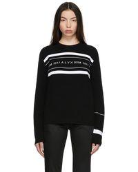 1017 ALYX 9SM ホワイト ロゴ セーター - ブラック