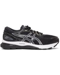 Asics - Black And White Gel-nimbus 21 Sneakers - Lyst