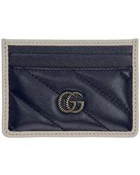 Gucci - ネイビー GG マーモント トーション カード ホルダー - Lyst