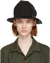Y's Yohji Yamamoto - Black Gabardine 4-panel Cloche Hat - Lyst