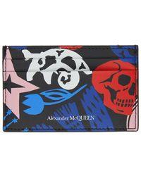 Alexander McQueen マルチカラー Paper Cut カード ケース
