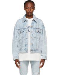 Alexander Wang ブルー オーバーサイズ デニム ジャケット