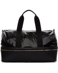 Maison Margiela Black Vinyl Zip-around Duffle Bag