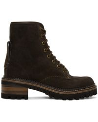 See By Chloé - Brown Marta Boots - Lyst