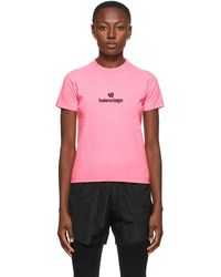 Balenciaga ピンク Sponsor ロゴ T シャツ