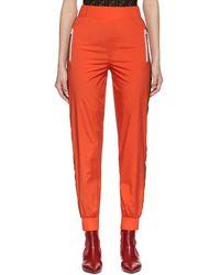 Fendi - Orange Forever Ribbon Lounge Pants - Lyst