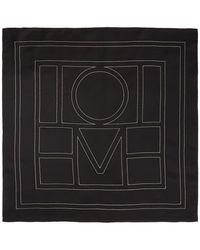 Totême - ブラック シルク Pantelleria スカーフ - Lyst