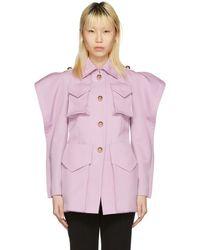 Nina Ricci - Purple Twill Coat - Lyst