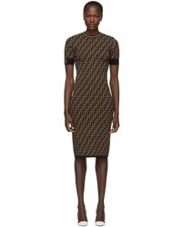 Fendi - Black And Brown Forever Dress - Lyst