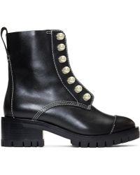 3.1 Phillip Lim - Black Hayett Pearl Boots - Lyst