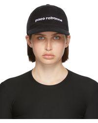 Paco Rabanne ブラック ロゴ キャップ