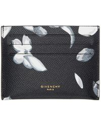Givenchy - Black Hydrangea Card Holder - Lyst