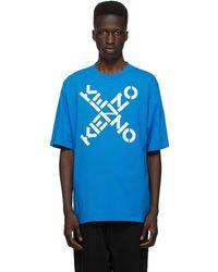 KENZO ブルー Sport ロゴ T シャツ
