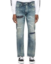 Neighborhood Indigo Scratch Savage Basic/c-pt Jeans - Blue
