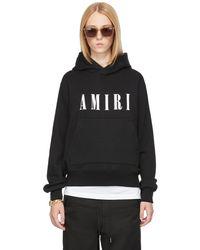 Amiri Pull à capuche core noir à logo