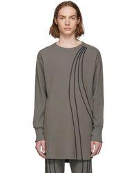 Kiko Kostadinov Grey River Long Sleeve T-shirt
