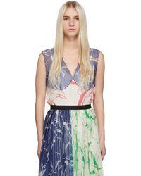 Marina Moscone Ssense Exclusive Colour Silk Print Tank Top - Multicolour
