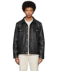 Won Hundred Leather Vinny Jacket - Black