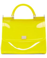 Dolce & Gabbana - Yellow Small Rubber Miss Sicily Bag - Lyst