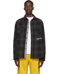 Off-White c/o Virgil Abloh Ssense Exclusive Black Quote Flannel Shirt