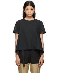 Sacai ブラック T シャツ